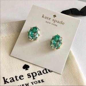 Last one ! Kate spade green crystal studs
